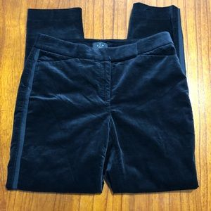 White House Black Market slim ankle velvet pants